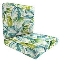 Jordan Manufacturing Senca Caribbean 2-Piece 46-Inch Deep Seat Chair Cushion in Green