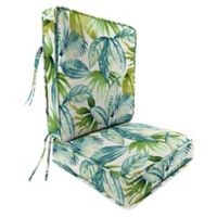 Jordan Manufacturing Senca Caribbean 2-Piece 45-Inch Deep Seat Chair Cushion in Green