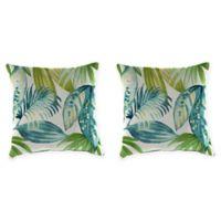 Senca Caribbean 20-Inch Throw Pillow in Green (Set of 2)