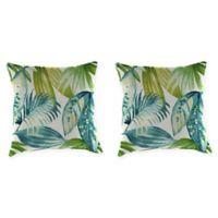 Senca Caribbean 18-Inch Throw Pillow in Green (Set of 2)