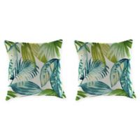 Senca Caribbean 16-Inch Throw Pillow in Green (Set of 2)