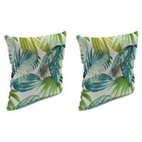 Senca Caribbean 16-Inch Throw Pillow with Welt in Green (Set of 2)