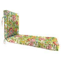 Jordan Manufacturing Sunriver Garden 68-Inch Chaise Lounge Cushion in Green/Orange