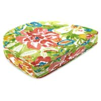 Print Contoured Boxed Seat Cushion in Sunriver Garden