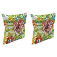 Print 16-Inch Square Tufted Throw Pillows in Sunriver Garden (Set of 2)