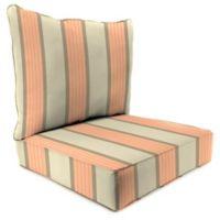 Outdoor 24-Inch 2-Piece Deep Seat Chair Cushion in Sunbrella® Cove Cameo
