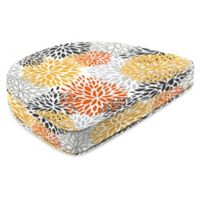 Jordan Manufacturing Blooms Citrus 17.5-Inch Contoured Boxed Seat Cushion