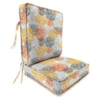 Jordan Manufacturing Blooms Citrus 2-Piece Attached Deep Seat Cushion