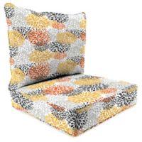 Jordan Manufacturing Blooms Citrus 2-Piece 24-Inch Deep Seat Chair Cushion