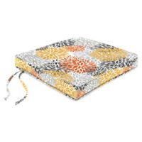 Jordan Manufacturing Blooms Citrus 18-Inch Boxed Edge Chair Cushion