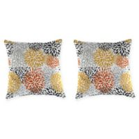Jordan Manufacturing Blooms Citrus 16-Inch Square Toss Pillows (Set of 2)