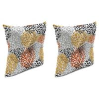 Blooms Citrus 16-Inch Square Welt Throw Pillows (Set of 2)