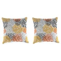 Blooms Citrus 20-Inch Square Throw Pillows (Set of 2)