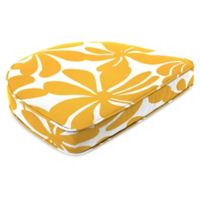 Print Contoured Boxed Seat Cushion in Twirly