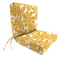 Print 44-Inch Boxed Edge Dining Chair Cushion in Twirly