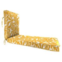 Jordan Manufacturing Twirly 68-Inch Chaise Lounge Cushion in Yellow/White