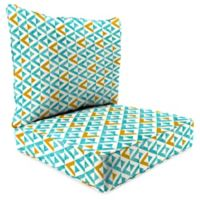 Jordan Manufacturing Tropez 2-Piece 24-Inch Deep Seat Chair Cushion in Turquoise