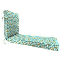 Jordan Manufacturing Tropez 80-Inch Chaise Lounge Cushion in Turquoise