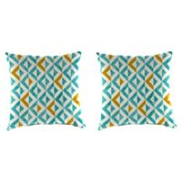 Tropez 20-Inch Square Throw Pillows in Turquoise (Set of 2)