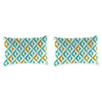 Tropez Oblong Lumbar Throw Pillows in Turquoise (Set of 2)