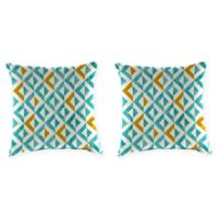 Tropez 18-Inch Square Throw Pillows in Turquoise (Set of 2)