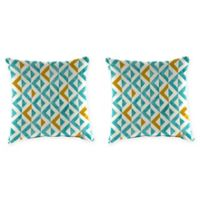 Tropez 16-Inch Square Throw Pillows in Turquoise (Set of 2)
