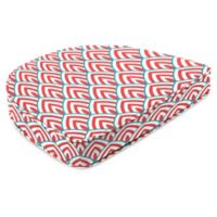 Jordan Manufacturing Lalo Outdoor Contoured Boxed Seat Cushion in Calypso