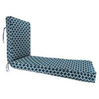 "Jordan Manufacturing Fulton Outdoor 68"" Deep Seat Chaise Lounge Cushion in Blue"