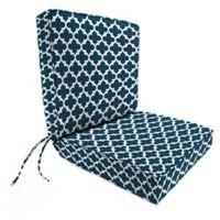 Print 44-Inch Boxed Edge Dining Chair Cushion in Fulton Oxford