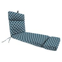 Jordan Manufacturing Fulton Outdoor French Edge Chaise Lounge Cushion in Blue
