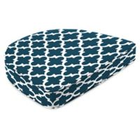 Jordan Manufacturing Fulton Outdoor Contoured Boxed Seat Cushion in Blue