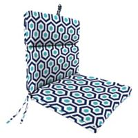 """Jordan Manufacturing Magna Oxford Outdoor 44"""" Dining Chair Cushion in Blue"""