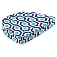 """Jordan Manufacturing Magna Oxford Outdoor 19.5"""" Dining Chair Cushion in Blue"""