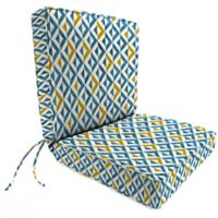 Jordan Manufacturing Tropez Outdoor 44-Inch Boxed Edge Chair Cushion in Cobalt