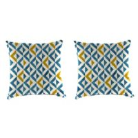Jordan Manufacturing Tropez Outdoor 20-Inch Square Throw Pillows in Cobalt (Set of 2)