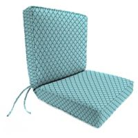 Print 44-Inch Boxed Edge Dining Chair Cushion in Lalo Oxford