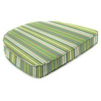 Stripe 19.5-Inch Square Dining Cushion-Boxed in Sunbrella® Foster Surfside