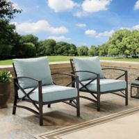 Crosley Kaplan Patio Chairs in Mist (Set of 2)
