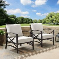 Crosley Kaplan Patio Chairs in Oatmeal (Set of 2)