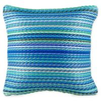Fab Habitat Cancun 16.5-Inch Square Indoor/Outdoor Accent Pillow in Turqouise