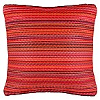 Fab Habitat Cancun 16.5-Inch Square Indoor/Outdoor Accent Pillow in Red