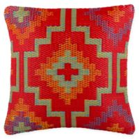 Fab Habitat Lhasa Indoor/Outdoor 20-Inch Square Accent Pillow in Orange/Violet