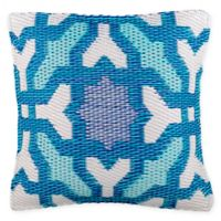 Fab Habitat Seville Indoor/Outdoor 16.5-Inch Square Accent Pillow in Blue
