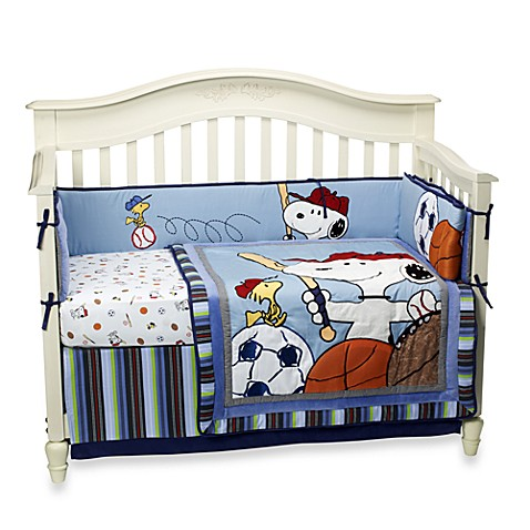 Lambs & Ivy® Team Snoopy 4-Piece Crib Bedding Set