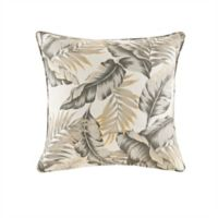 Madison Park Coco Leaf Square Throw Pillow in Neutral
