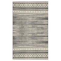 Style Co-op Aztec Printed Stone Wash 3' x 5' Area Rug in Black/White