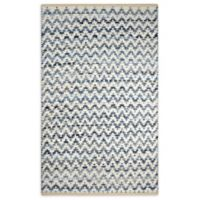 Chevron Chindi 3' x 5' Area Rug in Navy/White