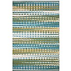 Handwoven Azure 2-Foot x 3-Foot Accent Rug in Blue