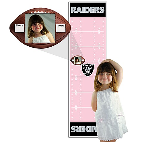 Nfl Oakland Raiders Pink Growth Chart Bed Bath Beyond