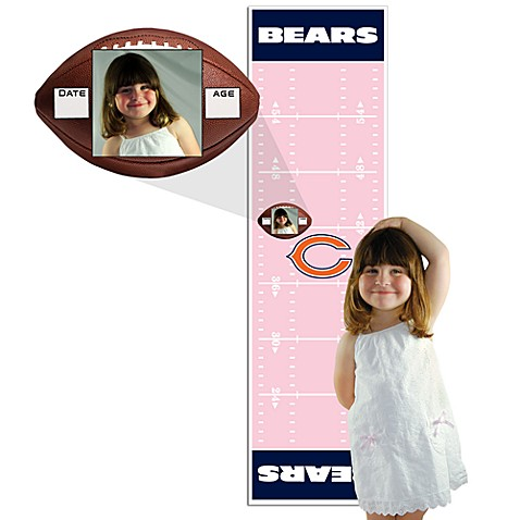 NFL Chicago Bears Pink Growth Chart
